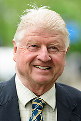 © Licensed to London News Pictures. 02/05/2017. London, UK. STANLEY JOHNSON, father of Boris Johnson, arrives to take part in a discussion titled How to Brexit: The Best Deal for Britain, hosted by the The how to: Academy, in West London. The event was also attended by Gina Miller. Photo credit: Ben Cawthra/LNP