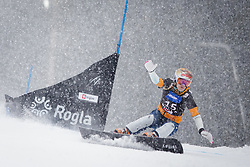 Julie Zogg (SUI) competes during Qualification Run of Women's Parallel Giant Slalom at FIS Snowboard World Cup Rogla 2016, on January 23, 2016 in Course Jasa, Rogla, Slovenia. Photo by Ziga Zupan / Sportida