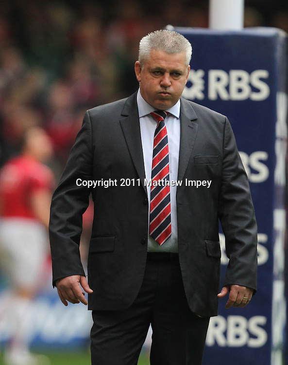 Warren Gatland the Wales head coach. Wales v Ireland, RBS 6 Nations, Millennium Stadium, Cardiff, Rugby Union, 12/03/2011 © Matthew Impey/Wiredphotos.co.uk. tel: 07789 130 347 email: matt@wiredphotos.co.uk