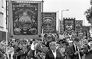 Maltby, Manton and Notts Area banners. 1990 Yorkshire Miner's Gala. Rotherham.1990 Yorkshire Miner's Gala. Rotherham.