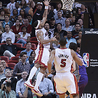 17 November 2010: Miami Heat's point guard #55 Eddie House goes for the layup during the Miami Heat 123-96 victory over the Phoenix Suns at the AmericanAirlines Arena, Miami, Florida, USA.
