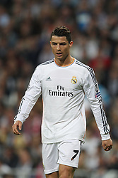23.04.2014, Estadio Santiago Bernabeu, Madrid, ESP, UEFA CL, Real Madrid vs FC Bayern Muenchen, Halbfinale, Hinspiel, im Bild Enttaeuschung bei Cristiano Ronaldo #7 (Real Madrid) // during the UEFA Champions League Round of 4, 1st Leg Match between Real Madrid vs FC Bayern Munich at the Estadio Santiago Bernabeu in Madrid, Spain on 2014/04/24. EXPA Pictures © 2014, PhotoCredit: EXPA/ Eibner-Pressefoto/ Kolbert<br /> <br /> *****ATTENTION - OUT of GER*****