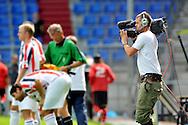 23-08-2008 VOETBAL:WILLEM II:RAYO VALLECANO:TILBURG<br /> Cameramensen van Endemol die Eredivisie LIVE gaan maken oefenden tijdens de wedstrijd ook voor het laatst<br /> Foto: Geert van Erven
