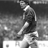 20 February 1982; Ollie Campbell, Ireland. Five Nations Rugby Championship, Ireland v Scotland, Lansdowne Road, Dublin. Picture credit; Ray McManus / SPORTSFILE