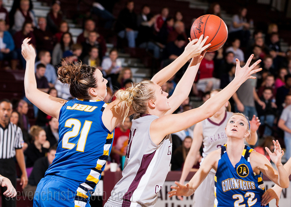 February 9, 2012: The John Brown University Golden Eagles play against the Oklahoma Christian University Lady Eagles at the Eagles Nest on the campus of Oklahoma Christian University.