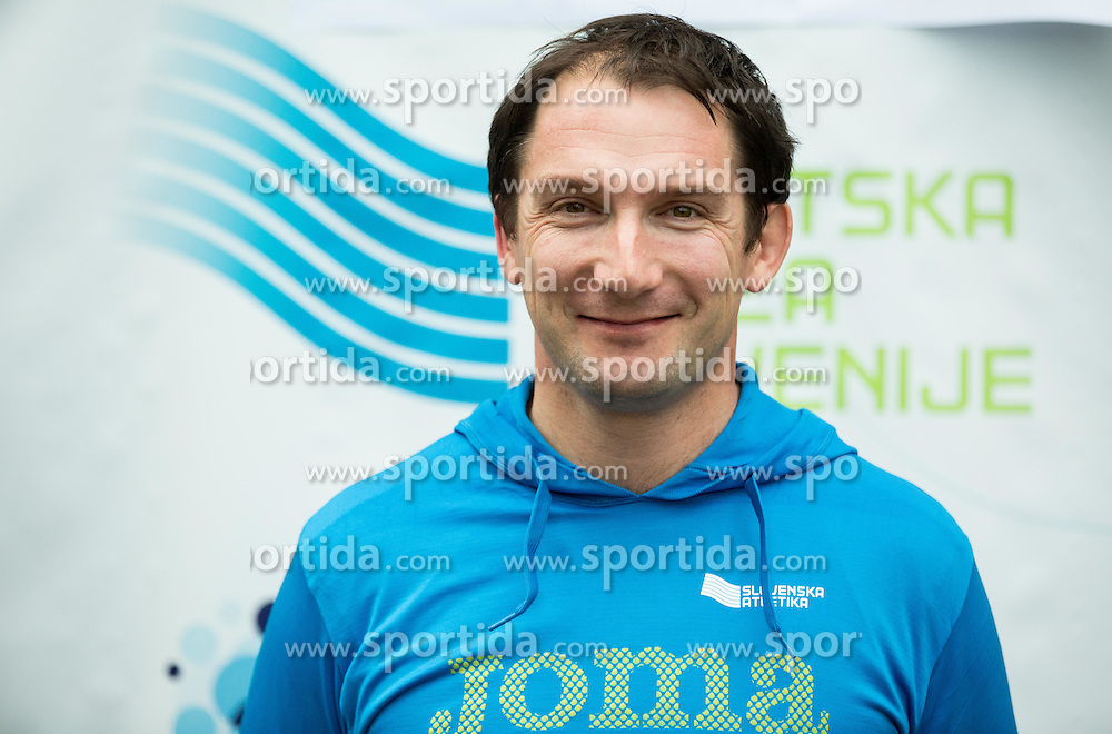 Primoz Kozmus during press conference when Slovenian athletes and their coaches sign contracts with Athletic federation of Slovenia for year 2016, on February 25, 2016 in AZS, Ljubljana, Slovenia. Photo by Vid Ponikvar / Sportida