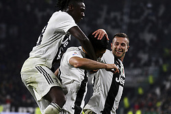 March 8, 2019 - Turin, Italy - Juventus midfielder Emre Can (23) celebrates with his teammates after scoring his goal during the Serie A football match n.27 JUVENTUS - UDINESE on 08/03/2019 at the Allianz Stadium in Turin, Italy. (Credit Image: © Matteo Bottanelli/NurPhoto via ZUMA Press)