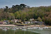 River scene at Helston on Helford Estuary, Cornwall, England, UK