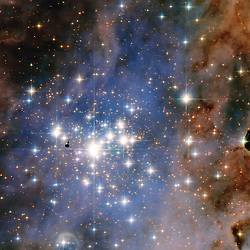 OUTER SPACE -- 21 Jan 2016 -- This NASA, ESA Hubble Space Telescope image features the star cluster Trumpler 14. One of the largest gatherings of hot, massive and bright stars in the Milky Way, this cluster houses some of the most luminous stars in our entire galaxy. EXPA Pictures © 2016, PhotoCredit: EXPA/ Photoshot/ Atlas Photo Archive/NASA/ESA<br /><br />*****ATTENTION - for AUT, SLO, CRO, SRB, BIH, MAZ only*****