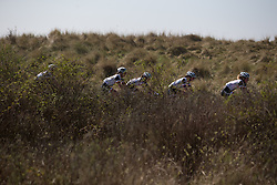 Team Sunweb ride among the dunes during Stage 5 of the Healthy Ageing Tour - a 117.9 km road race, starting and finishing in Borkum on April 9, 2017, in Groeningen, Netherlands.