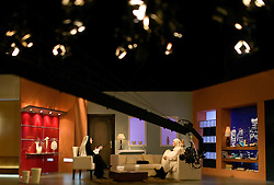 Mona Abdel-Ghani, right, interviews people for her program on local television, Cairo, Egypt, Feb. 3, 2005. She is one of many hosts who now addresses social issues and their relation to Islam on the air. The director of her program helped Islamic televangelist Amr Khaled get his start. Khaled had previously been asked to leave Egypt as his revival gained strength. As a result he started preaching on several television shows, turning him into an international celebrity. Some religious scholars complain that Khaled has not been properly trained in Islam to command such a following.