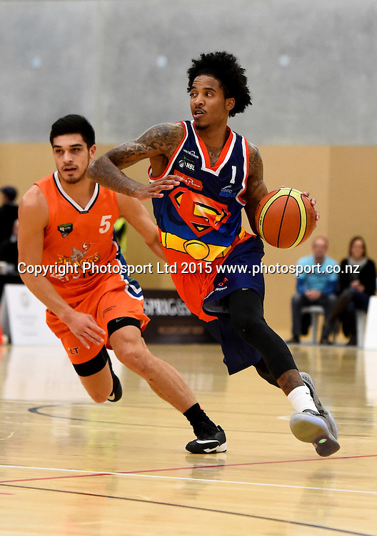 Giants player DeRonn Scott during their NBL Basketball game between the Nelson Giants v Southland Sharks. Saxton Stadium, Nelson, New Zealand. Sunday 21 June 2015. Copyright Photo: Chris Symes / www.photosport.co.nz