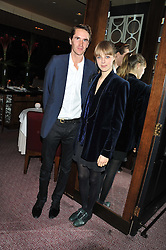 OTIS FERRY and EDIE CAMPBELL at a dinner hosted by Marcus Wareing and Johnnie Walker Blue Label in The Private Dining Room, Marcus Wareing at The Berkeley, Wilton Place, London on 7th November 2012.