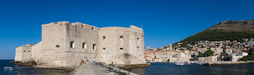 Panoramic in the Port of Dubrovnik, Dalmatia, Croatia