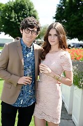 CRAIG ROBERTS and SAI BENNETT at the Audi International Polo at Guards Polo Windsor Great Park, Egham, Surrey on 28th July 2013.