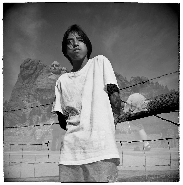 Carl Crooked Eyes, 13, Wounded Knee, Pine Ridge Reservation , South Dakota.