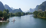 China, Yangshuo County, Yulong River Karst formations