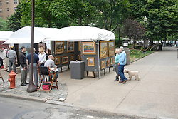 Rittenhouse Square art show and people..Philadelphia, Pennsylvania, PA USA.  Photo copyright Lee Foster, 510-549-2202, lee@fostertravel.com, www.fostertravel.com. Photo 309-30882