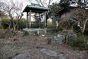 bell tower at an abandoned temple complex in Japan Kanagawa prefecture