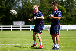 Mat Protheroe of Bristol Rugby in action ahead of the game - Rogan/JMP - 05/08/2017 - RUGBY UNION - Cleve RFC - Bristol, England - Bristol Rugby v Harlequins - Pre-Season Friendly.