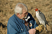 Falconer and friend