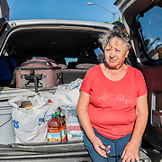"""Maria Galleta, 67 years. Leader of the """"Centro de madres y familias deportadas en acion"""" center, right on the border between Mexico and the US, where deported mexicans and refugees are welcomed once they arrive in Tijuana"""