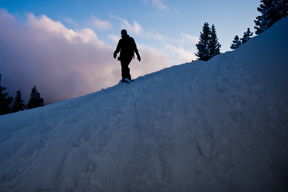 Snowshoeing on Mt. Rose Summit Trail.