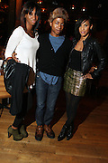 29 November 2010- New York, NY- l to r: Systence, Clarence McMillian, and Eva at Chrisette Michele's Album Release Party for 'Let Freedom Reign' held at The City Winery on November 29, 2010 in New York City.  Photo Credit: Terrence Jennings