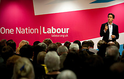 © Licensed to London News Pictures. 22/06/2013. Birmingham, UK. Ed Miliband MP, Leader of the Labour Party, giving a key note speech to Labour's National Policy Forum (NPF) in Birmingham earlier today. Photo credit : Dave Warren/LNP