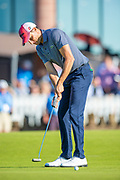 Benjamin Hebert (FRA) putts on the 18th green during the final round of the Aberdeen Standard Investments Scottish Open at The Renaissance Club, North Berwick, Scotland on 14 July 2019.