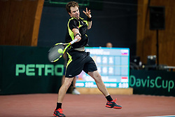 Blaz Kavcic of Slovenia during Day 1 of the Davis Cup Slovenia vs Monaco competition, on February 3, 2017 in Tennis Arena Tabor, Maribor Slovenia. Photo by Vid Ponikvar / Sportida