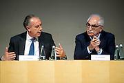 Rome jun 15th 2016, debate on justice and magistrature. In the picture Giovanni Legnini, president of Magistrature Superior Council, and Armando Spataro, General Attorney in Turin  - © PIERPAOLO SCAVUZZO