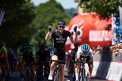 Kirsten Wild (NED) wins sprint finish at Giro Rosa 2018 - Stage 2, a 120.4 km road race starting and finishing in Ovada, Italy on July 7, 2018. Photo by Sean Robinson/velofocus.com
