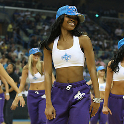 07 March 2009: A New Orleans Hornets Honeybees dancers performs for the crowd during a 108-90 win by the New Orleans Hornets over the Oklahoma City Thunder at the New Orleans Arena in New Orleans, Louisiana.