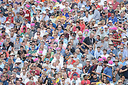 The Crowd of Edgebaston during the NatWest T20 Blast semi final match between Northamptonshire County Cricket Club and Warwickshire County Cricket Club at Edgbaston, Birmingham, United Kingdom on 29 August 2015. Photo by David Vokes.