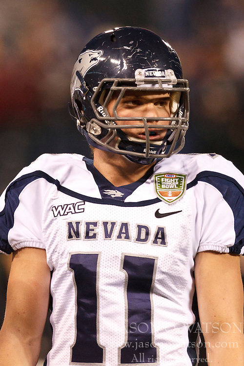 January 9, 2011; San Francisco, CA, USA;  Nevada Wolf Pack cornerback Dean Faddis (11) warsm up before the 2011 Fight Hunger Bowl against the Boston College Eagles at AT&T Park. Nevada defeated BC 20-13.