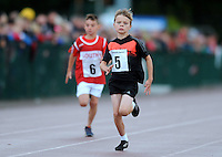 20 Aug 2016:  Cormac Crotty, right, from Cavan, and Jack Dowdall, from Louth, in the Boys U10 100m heats.   2016 Community Games National Festival 2016.  Athlone Institute of Technology, Athlone, Co. Westmeath. Picture: Caroline Quinn