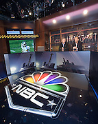 "Newly installed Panasonic 103"" Plasma Televisions on the set of NBC Sports' ""Football Night in America."""