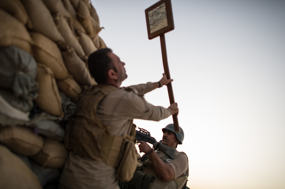 Peshmerga frontline in Shingal (Sinjar), Iraq, September 8, 2015