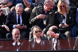 May 19, 2019 - Roma, Italia - Foto Alfredo Falcone - LaPresse.19/05/2019 Roma ( Italia).Sport Tennis.Rafael Nadal (esp) vs Novak Djokovic (srb).Internazionali BNL d'Italia 2019 .Nella foto: anna falchi, bruno vespa..Photo Alfredo Falcone - LaPresse.19/05/2019 Roma (Italy).Sport Tennis.Rafael Nadal (esp) vs Novak Djokovic (srb).Internazionali BNL d'Italia 2019.In the pic: anna falchi, bruno vespa (Credit Image: © Alfredo Falcone/Lapresse via ZUMA Press)