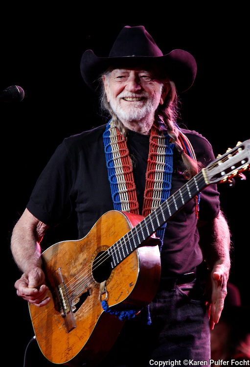 "January 13, 2012 - Willie Nelson greets his fans at a packed-house performance in Tunica at Gold Strike Casino Friday night. Willie is now 78 and is ""on the road again.""  Photo by Karen Pulfer Focht"