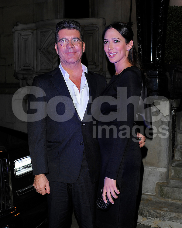 Simon Cowell and Lauren Silverman at the I Can't Sing opening night party held at One Marylebone in London, UK. 26/03/2014<br />