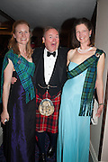 KATHERINE PRUDHOE; LORD BIDDULPH; JEMIMA CURRIE, The Royal Caledonian Ball 2013. The Great Room, Grosvenor House. Park lane. London. 3 May 2013.
