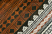 Detail of tapa cloth design; Tongo village, Qamea Island, Fiji.