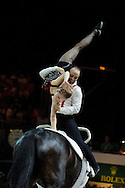 Brooke Boyd, Todd Griffiths, (CAN), Bankey Moon, Becca Hewit - Pas de Deux Vaulting - Alltech FEI World Equestrian Games&trade; 2014 - Normandy, France.<br /> &copy; Hippo Foto Team - Jon Stroud<br /> 04/09/2014