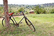 A bicycle parked outside Kashare Level 3 Health Centre, Uganda.<br /> <br /> A lot of women either walk to the health centre or arrive by bicycle.<br /> <br /> Level 3 health centres are usually smaller facilities, often in more isolated or rural locations. Although staffed by qualified health workers, they are often lacking in basic infrastructure and they do not have the staff or equipment to manage emergency procedures.<br /> <br /> Joseline attended the emergency obstetrics course that RCOG member Dr Helen Allott ran in August 2013.