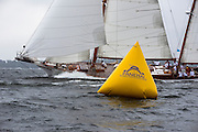 Ticonderoga sailing in the Museum of Yachting Classic Yacht Regatta.