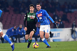January 13, 2019 - Naples, Naples, Italy - Fabian Ruiz of SSC Napoli during the Coppa Italia match between SSC Napoli and US Sassuolo at Stadio San Paolo Naples Italy on 13 January 2019. (Credit Image: © Franco Romano/NurPhoto via ZUMA Press)