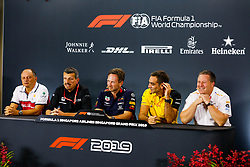September 20, 2019, Singapore, Singapore: Motorsports: FIA Formula One World Championship 2019, Grand Prix of Singapore, .Frederic Vasseur (FRA, Alfa Romeo Racing), Guenther Steiner (ITA, Haas F1 Team), Christian Horner (GBR, Aston Martin Red Bull Racing), Cyril Abiteboul (FRA, Renault F1 Team), Zak Brown (USA, McLaren F1 Team) (Credit Image: © Hoch Zwei via ZUMA Wire)