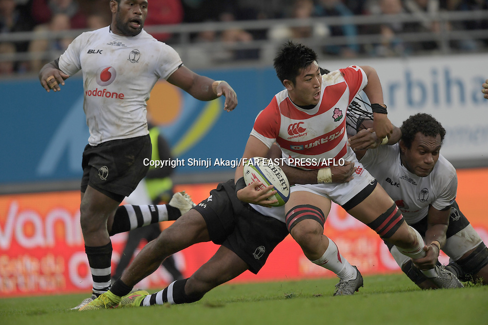 Shuhei Matsuhashi (JPN), NOVEMBER 26, 2016 - Rugby : Rugby test match between Fiji and Japan at the Stade de la Rabine in Vannes, France. (Photo by FAR EAST PRESS/AFLO)